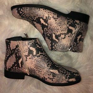Time and Tru Snakeskin Booties